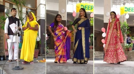 Deepalaya students and special children presenting a fashion show