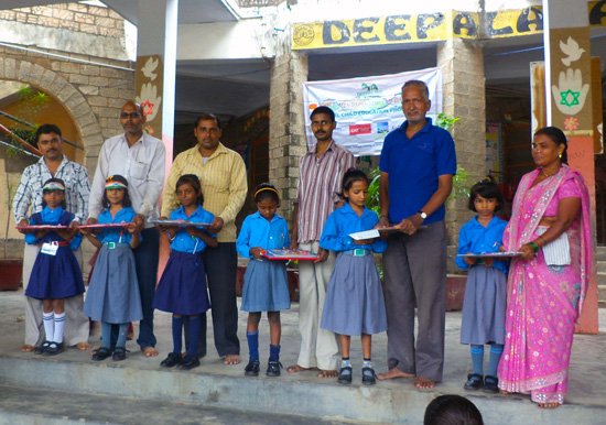 Fathers with their daughters at Deepalaya FADA Project