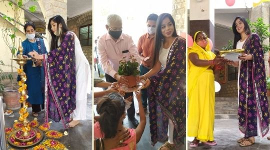 Miss Vidisha Baliyan, Miss Deaf World 2019 and a retired Indian Tennis player visited Deepalaya to inspire children and their families.